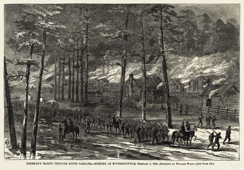 William_Waud_-_Burning_of_McPhersonville_1865_-_final_Harper's_Weekly_version
