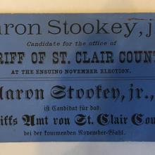 A stookey ad card